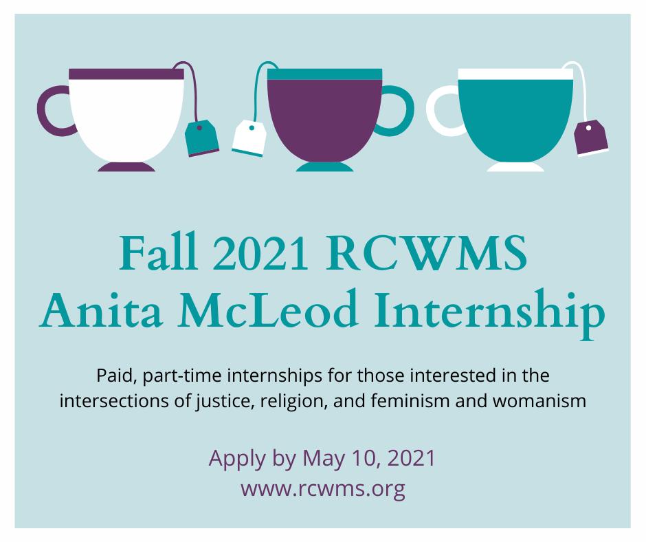 Seeking applicants for the Fall 2021 RCWMS Anita McLeod Internship